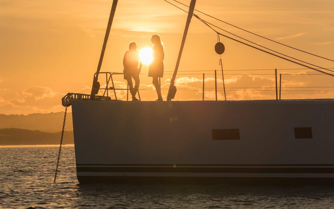 Sailing Yacht Allegro under anchor