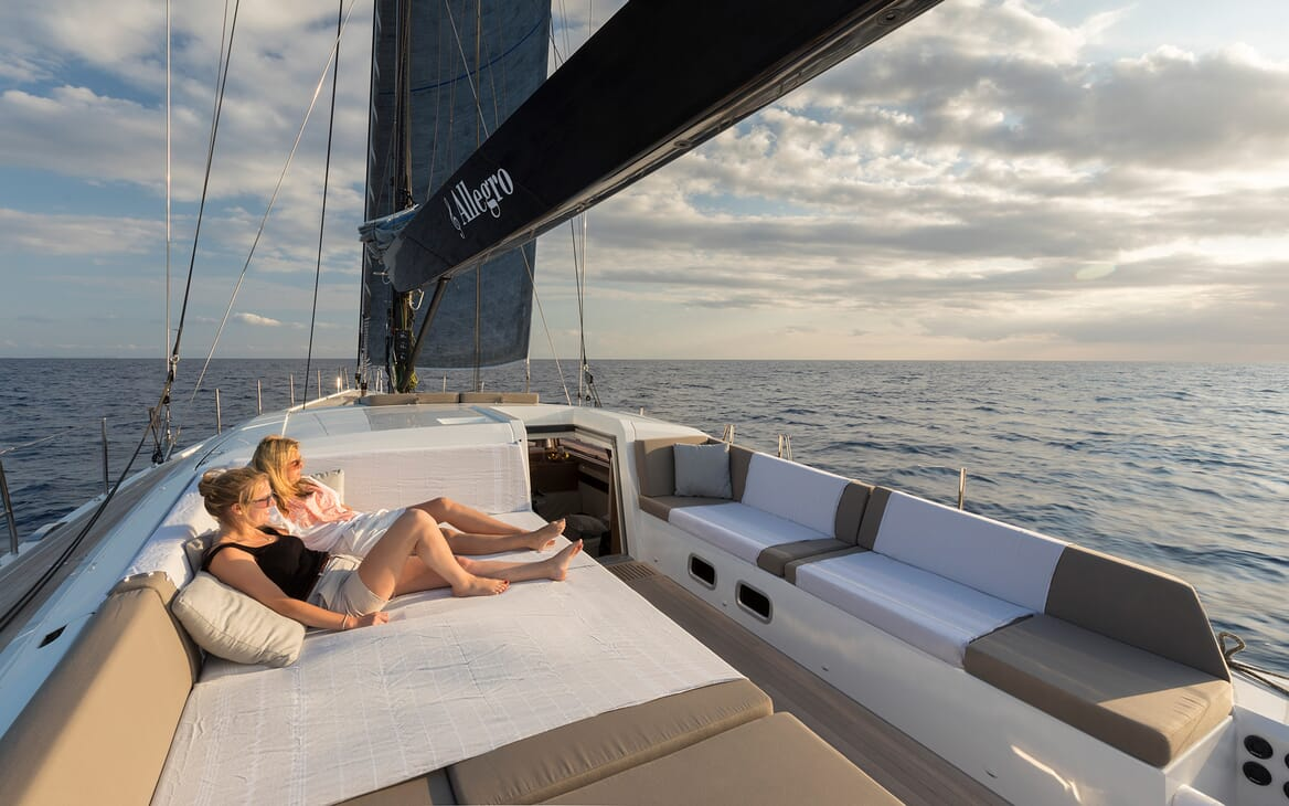 Sailing Yacht Allegro outside seating