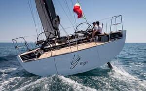 Sailing Yacht EGI4  underway