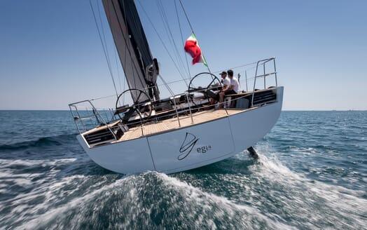 Sailing Yacht EGI4  underway