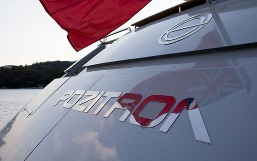Motor Yacht POZITRON Aft Name