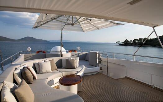 Motor Yacht POZITRON Sun Deck Aft