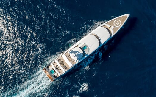 Motor Yacht ILLUSION PLUS Aerial