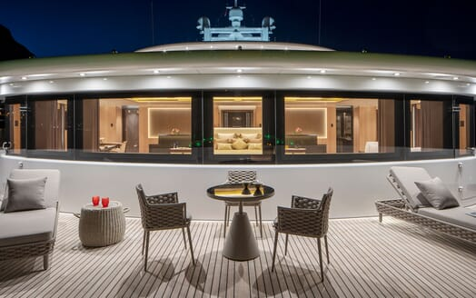 Motor Yacht ILLUSION PLUS Evening Deck Seating