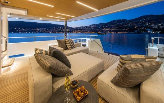 Motor Yacht Mimi La Sardine Aft Deck Evening