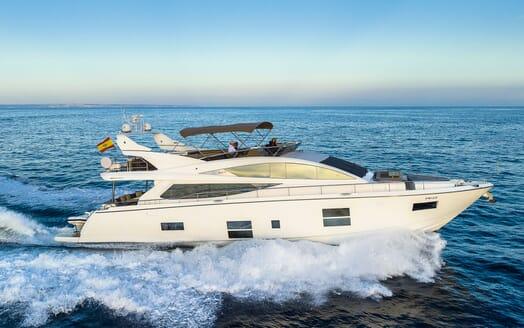 Motor Yacht Sky anchored