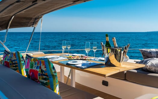 Motor Yacht Sky sun loungers