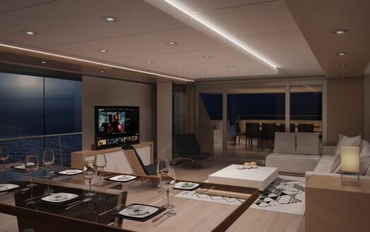 Motor Yacht LUXI95 saloon