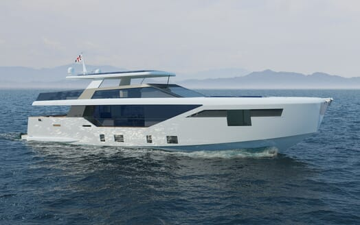 Motor Yacht LUXI95 running