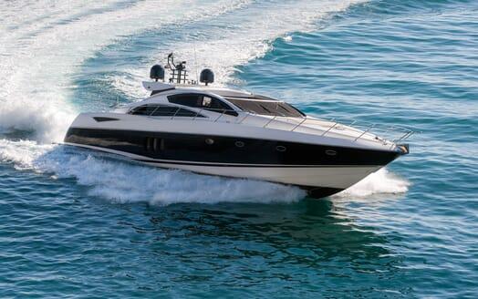 Motor Yacht GLORIOUS running Hero aerial shot 2