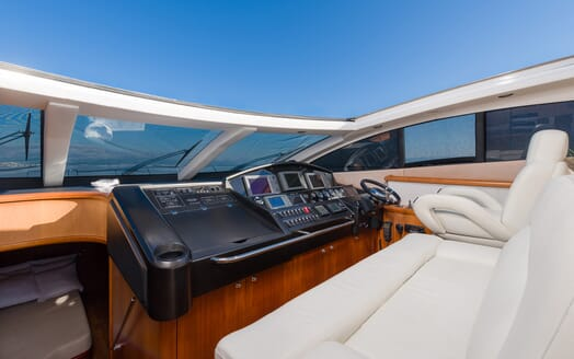 Motor Yacht GLORIOUS helm shot captains area
