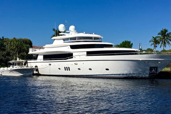 Motor Yacht Lone Star Moored Profile