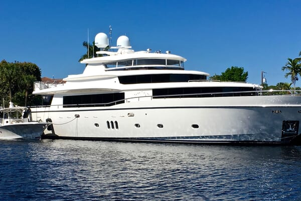 Motor Yacht Lone Star Moored Profile