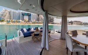 Motor Yacht FIVE Aft Deck