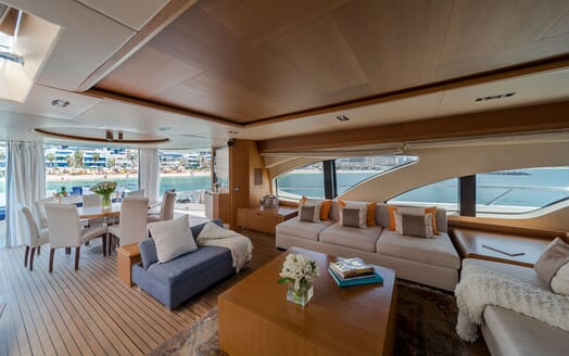 Motor Yacht FIVE Main Saloon and Dining