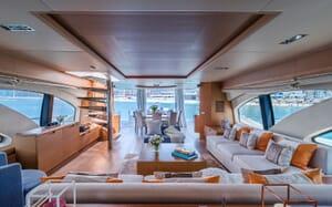 Motor Yacht FIVE Main Saloon