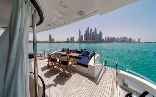 Motor Yacht FIVE Aft Deck View