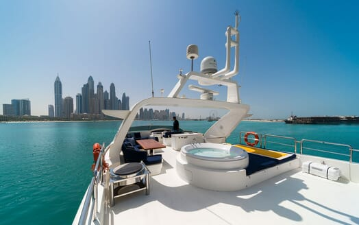 Motor Yacht FIVE Sun Deck View