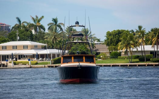 Motor Yacht Little Pipe bow