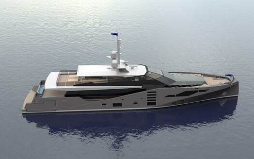 Motor Yacht Stealth aerial