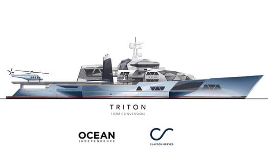 Motor Yacht Triton model