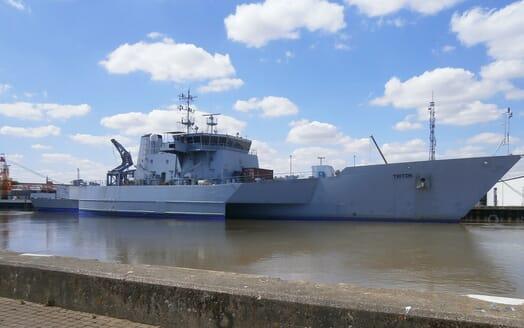 Motor Yacht Triton moored