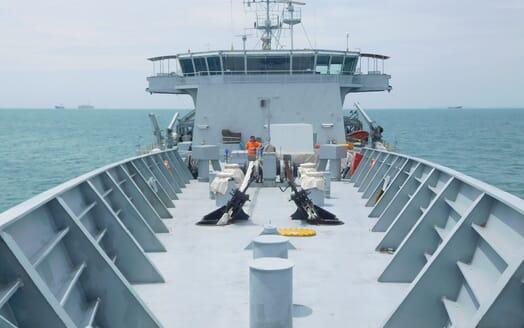 Motor Yacht Triton foredeck