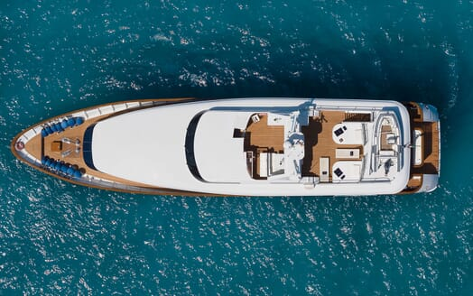 Motor Yacht BLUE MAGIC Aerial View