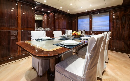 Motor Yacht BLUE MAGIC Main Deck Dining Room