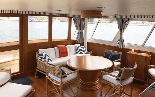 Motor Yacht Penelope dining area