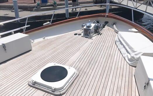Motor Yacht Penelope foredeck