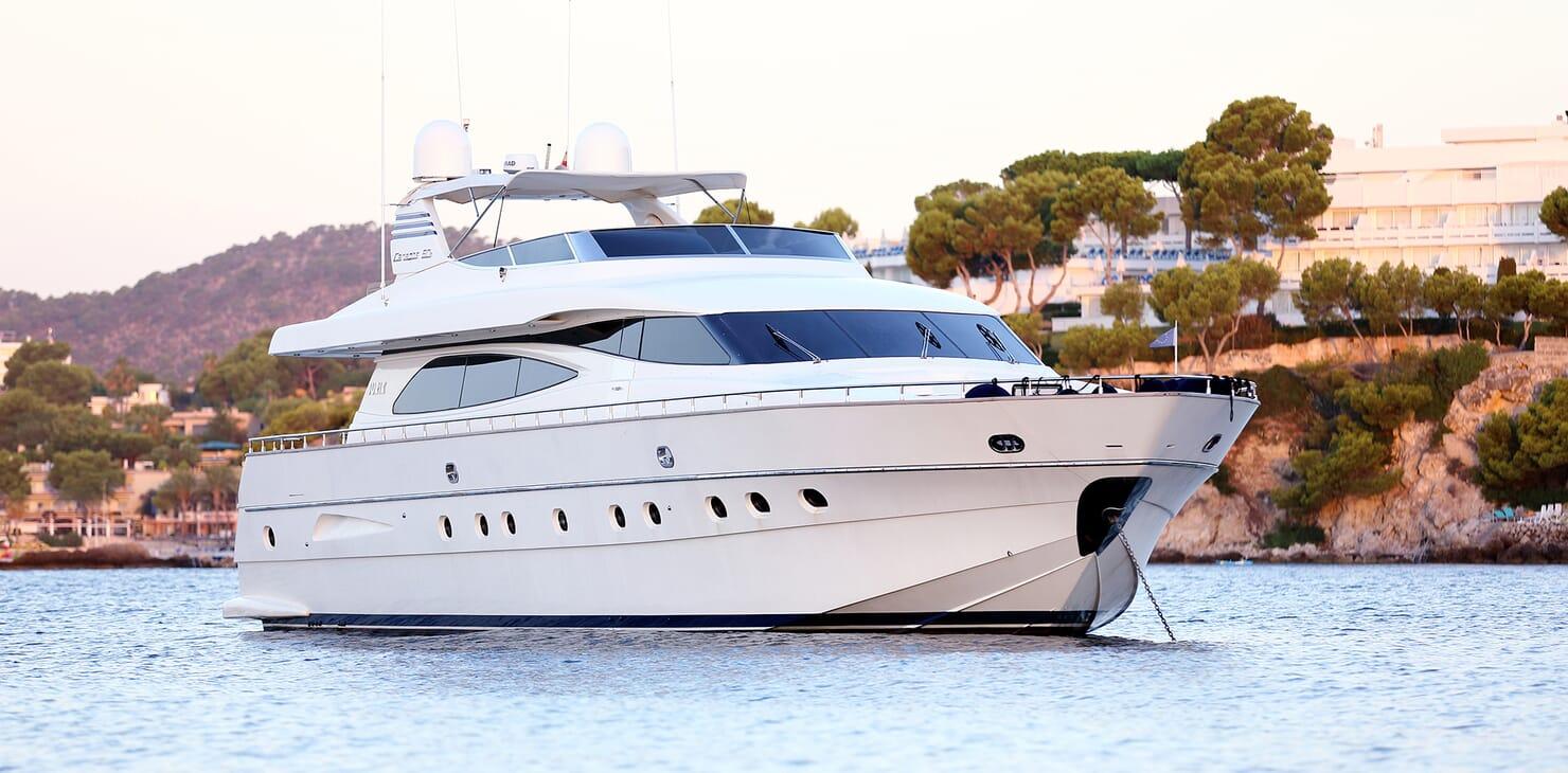 Motor Yacht Jurik anchored