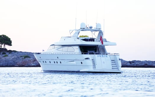 Motor Yacht Jurik under anchor