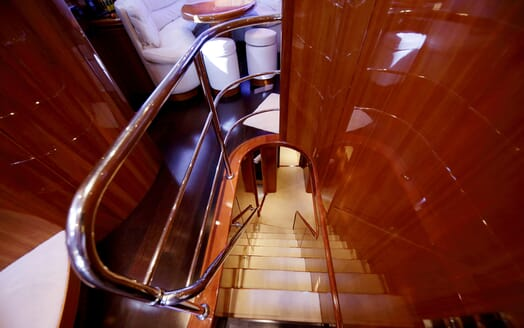 Motor Yacht Jurik stairwell
