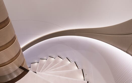 Motor Yacht Book Ends stairwell