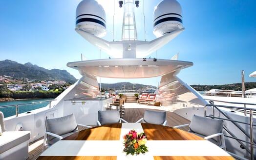 Motor Yacht Book Ends sundeck