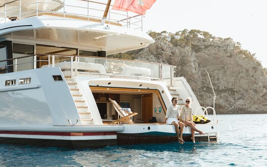 Motor Yacht Calypso Swim Platform