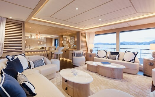 Motor Yacht Calypso Main Saloon to Aft Deck