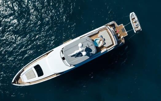 Motor Yacht Calypso Birds Eye view