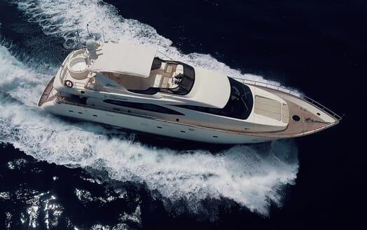 Motor Yacht Nawaimmaa running shot