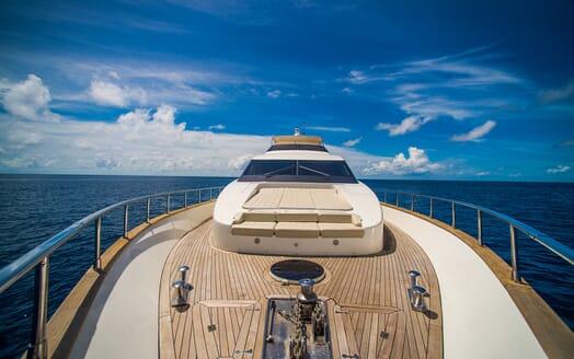 Motor Yacht Nawaimmaa foredeck