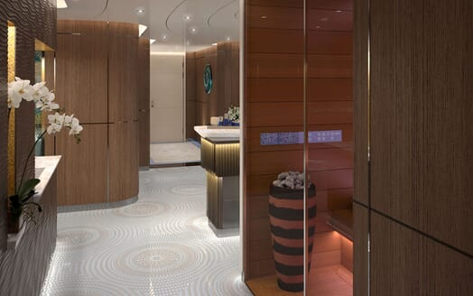 Motor Yacht ICON Hallway