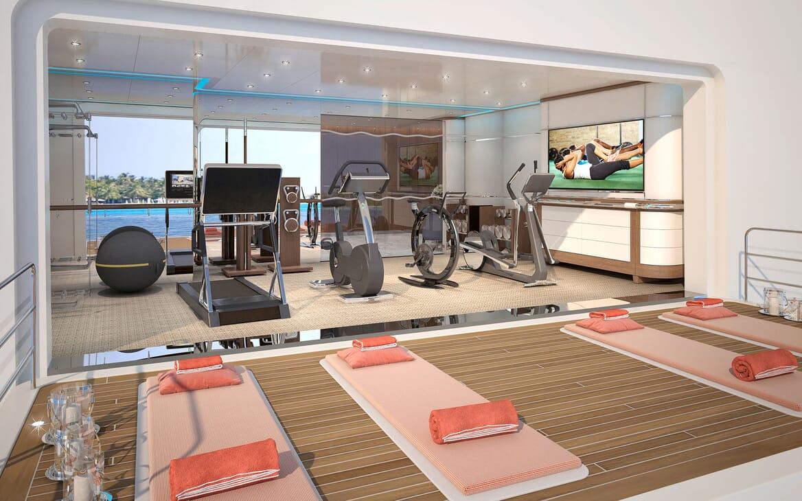 Motor Yacht ICON Gym fold down deck