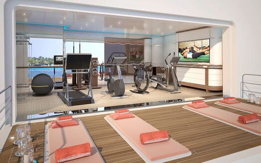 Motor Yacht ICON Gym fold down deck