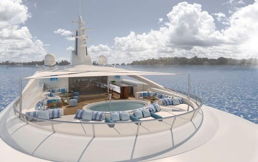 Motor Yacht ICON Sun Deck Jacuzzi