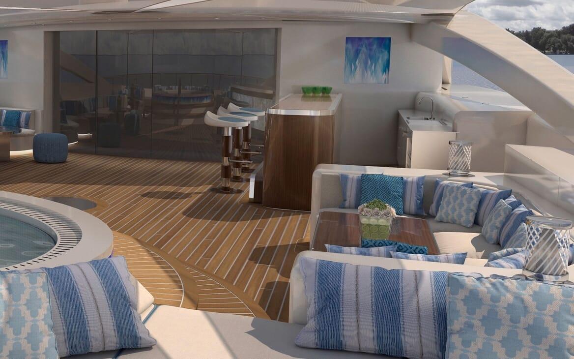 Motor Yacht ICON Sun Deck Seating