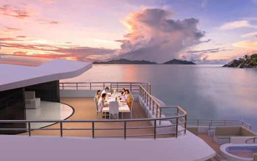 Motor Yacht Hawk Ranger 68 Alfresco Dining