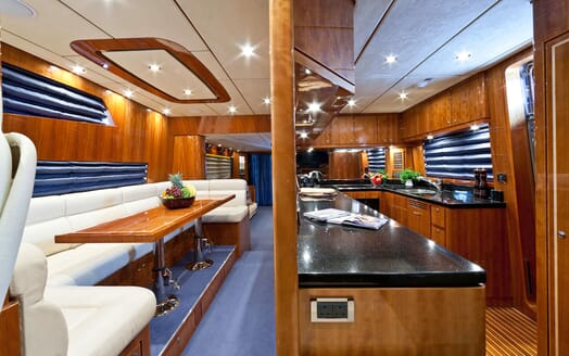 Motor Yacht SAMARIC Galley and Dining