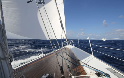 Sailing Yacht BLISS 2 Bow Underway
