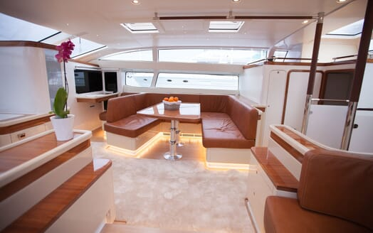 Sailing Yacht Bliss 2 seating area